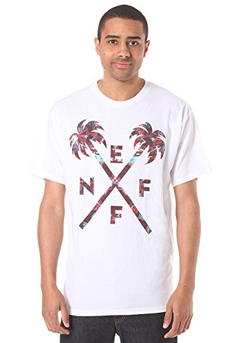 Neff Herren T-Shirt Crossed Palm - Weiß - Groß