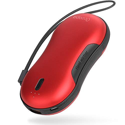 OCOOPA Handwärmer Schnellladung USB, 9000mAh PD wiederaufladbarer Powerbank, Elektrische Tragbare Taschenwärmer, 15 Stunden Lang Anhaltende Hitze Tür Outdoor-Sportarten, für Kinder, Frauen, Männer