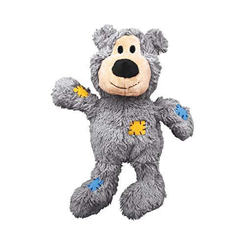 KONG – Wild Knots Bear – Innere Geknotete Seile und Minimale Füllung für Weniger Unordnung (Farbvar.) – Für Mittelgroße/Große Hunde