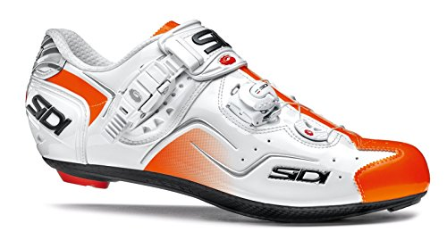 Sidi KAOS Rennradschuhe, (Weiß/Orange Fluo), 37 EU