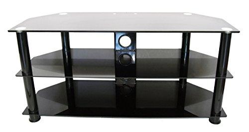Inotek Mercure Meuble TV avec 3 Plateaux (L 80 cm x P 40 cm) - Hauteur Totale 51 cm Noir