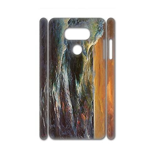 A Prueba De Tiempo Caja del Teléfono Plástico Rígido Diseño Sea Wave para Chicas Compatible con LG G8 Thinq