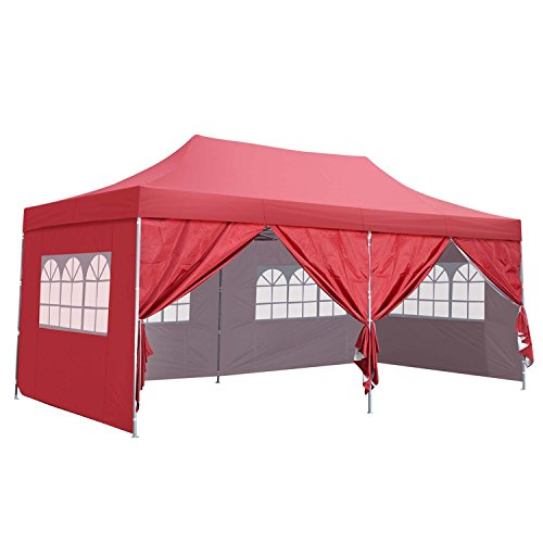 Outdoor Basic 10x20 Ft Pop up Canopy Party Wedding Gazebo Tent Shelter
