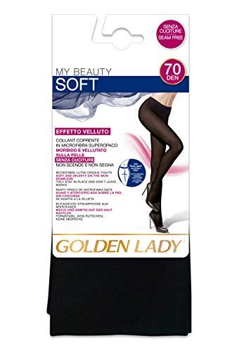 GOLDEN LADY My Beauty 70 2P Collant, 70 DEN, Nero (Nero 099A), Large (Taglia produttore:4 – L) (Pacco da 2) Donna