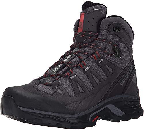 Salomon Men's Quest Prime GTX Backpacking Boot, Magnet/Black/Red Dalhia, 12 M US