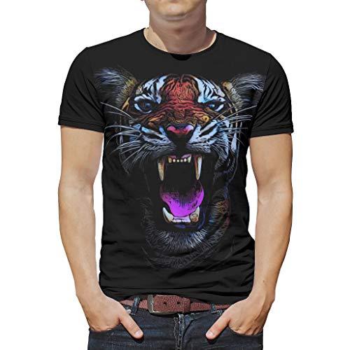 Schick Mehrere Muster Distressed T-Shirt für Männer und Frauen White 4XL