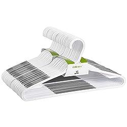 small Fillroo 30 Pack Flexible Plastic Hanger Lightweight Non-Slip Coat Hanger / Suit Holder (Gray)