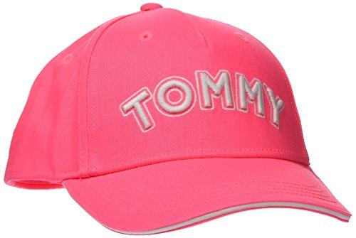 Tommy Hilfiger Tommy Cap Gorra, Rosa (Neon Pink 645), Large (Talla del Fabricante: L-XL) para Bebés