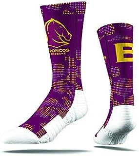 Burley Sekem Unisex Brisbane Broncos Large Camo Sock, Multicoloured, Large 8-13
