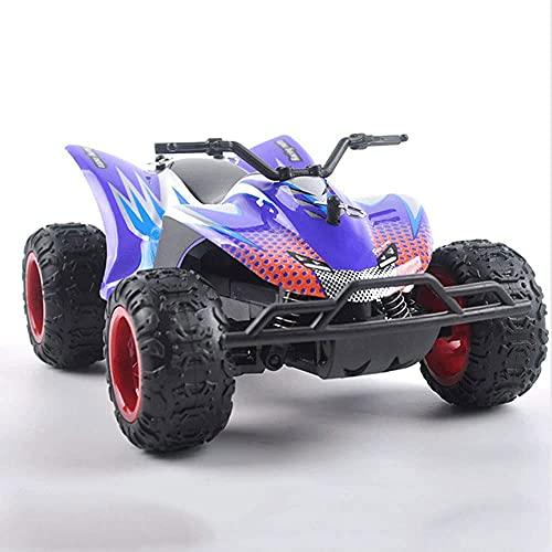 TTKD Inalámbrico de Alta Velocidad RC Motocicleta Carreras 1:22 Escala 2WD Amortiguador Escalada 2.4G Control Remoto Buggy Carga USB Niños Juguete Carreras Niños y niñas Cumpleaños