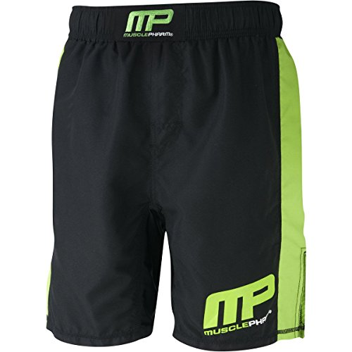 MusclePharm Herren Textilbekleidung Printed Shorts, Black, XXL