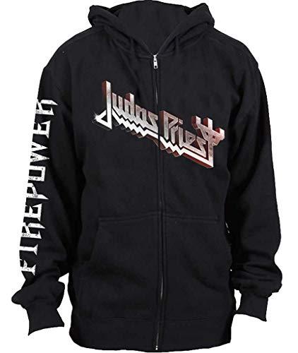 Unbekannt Judas Priest 'Firepower' (Black) Zip Up Hoodie (Large)