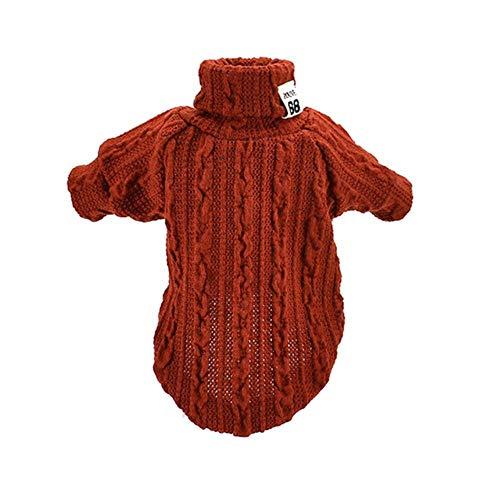 Xinger Hond Kat Coltrui Winter Warm Gebreide Hondenkleding voor Kleine Honden Kleding Puppy Jasje Huisdieren Producten, Oranje, XS
