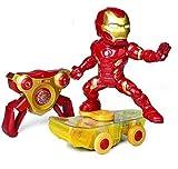 MODELTRONIC Coche RC superhéroes Patinete RC de Iron Man Giratorio Skateboard Marvel Avengers Oficial 2.4Ghz RTR