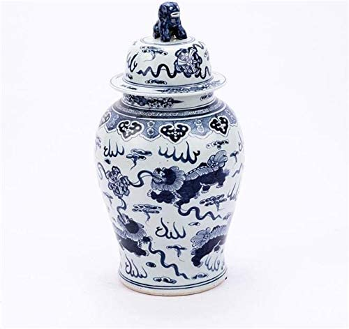EuroLuxHome Temple Jar Foo Dog White Black Vary Colors Ranking TOP17 Blue store May