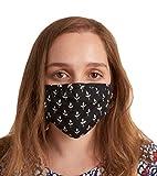 Hatley Double Layer Face Mask with Ear Elastic Bufanda de moda, Black Tiny Buds, Talla única Unisex ...