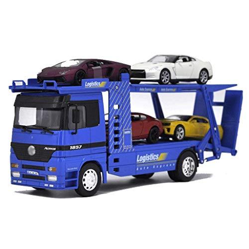 JIALI Automodell Auto Transport Modell BAU Truck Anhänger Die Gussfahrzeug Modell Legierung Auto Modell Spielzeug...