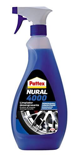 Pattex 2265288 Nural 4000, Limpiador desengrasante Concentrado para el automóvil, fórmula Biodegradable, Bote con pulverizador, 1x750ml, Transparente
