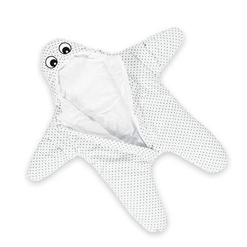 all Kids United Kinder Schlafsack aus Baumwolle - Seestern Wintersack & Kinderwagen Pucksack für Klein-Kinder