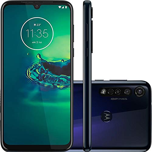 Celular Motorola Moto G8 Plus Azul Safira 64gb Câmera Tripla 48mp + 5mp + 16mp