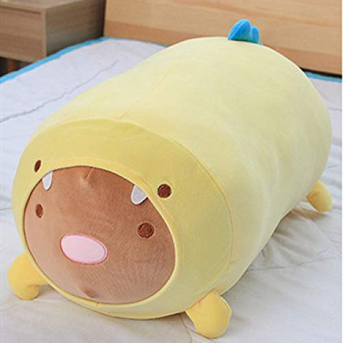 qwermz Soft Toy,cartoon Pillow Plush Toy Fat Dog Cat Totoro Penguin Pig Frog Cushion Appease Sleeping Hold Pillow Kid Gift 60cm A