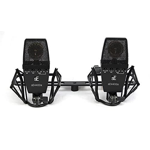 sE Electronics - SE4400a Multi Pattern Large Diaphragm Vintage Microphone with Shockmount and Case, Factory Matched Pair
