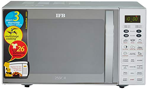 IFB 25 L Convection Microwave Oven (25SC4, Metallic Silver, With Starter Kit)