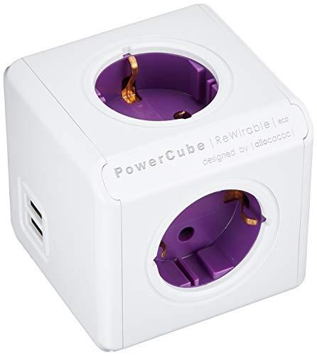 allocacoc PowerCube DuoUSB ReWirable + Plug, bloc...