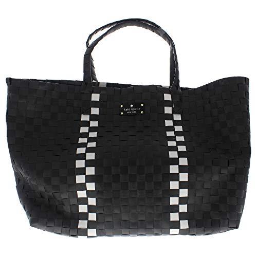 Kate Spade New York Tote Hand Bag Kate Spade Intrecciato Borsa a mano - Nero-Bianco - 1 pz Borsa Donna