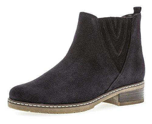 Gabor Damen Chelsea Boots 92.726,Frauen Stiefel,Halbstiefel,Stiefelette,Bootie,Schlupfstiefel,gefüttert,Winterstiefeletten,Blockabsatz 2.5cm,H Weite (Normal),Nightblue (Micro),UK 5.5