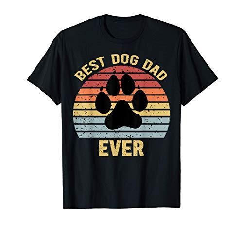 Regalo del Día del Padre del Mejor Perro Retro Divertido Camiseta