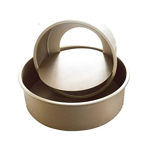 Molde redondo para tartas, parte inferior movible, de acero al carbono, de...