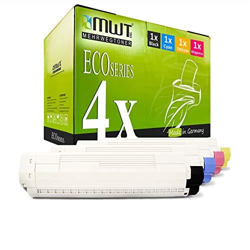 4X MWT Druckerpatronen für Oki C822 C822CDTN C822DN C822N ersetzt 44844613-44844616 Set