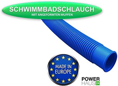 POWERHAUS24 Pool Schlauch Schwimmbad und Teich - Ø 38mm (6/4