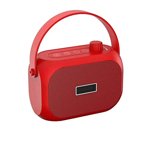 Bdesign Radio portátil, Reproducir Radio FM Equipada con Altavoz de Rango Completo y diafragma de bajo (Color : Red)