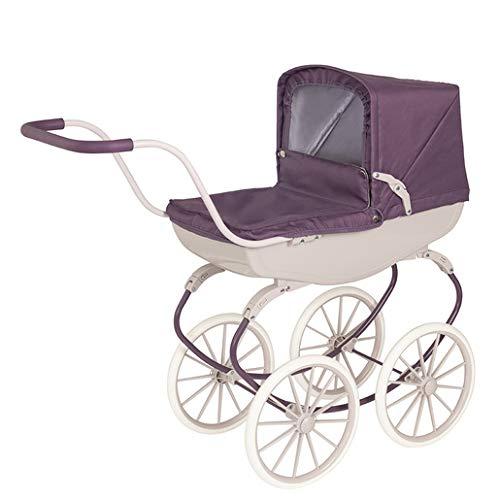 David Halsall – Classic Pram – Indoor & Outdoor Vintage Purple Doll Stroller for Kids 3 to 8 Years