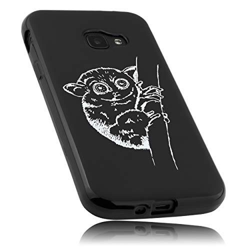 mumbi Hülle kompatibel mit Samsung Galaxy Xcover 4 / 4s Handy Case Handyhülle mit Motiv Koboldmaki, schwarz