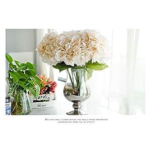 BGDRR Flor Artificial for decoración 5 Cabezas Hortensia de Seda for Boda decoración de Fiesta en casa Flores Falsas…