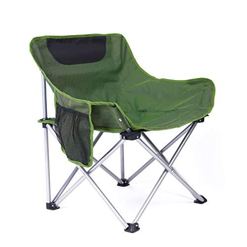 Chaise de pêche en plein air en acier inoxydable ultra léger portable ultra pliable chaise de pique-nique en plein air plage en plein air siège de croquis (Color : Green)