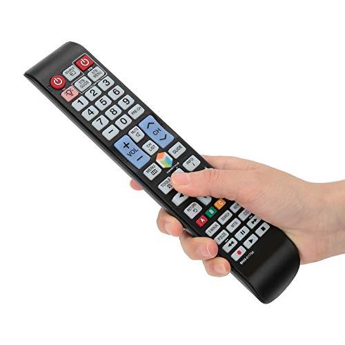 Socobeta Televisor de Control Remoto de Alta sensibilidad Televisor inalámbrico de bajo Consumo de fácil Agarre para televisor LCD LED Compatible con UN32H5500AF UN32H5500AFXZA