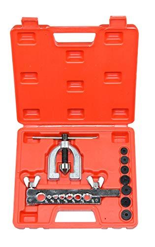 CNWOOAIVE Rohrbördelwerkzeug, Kupferrohr Expander Bördelwerkzeug Set, Bremsleitung Bördelgerät Werkzeug