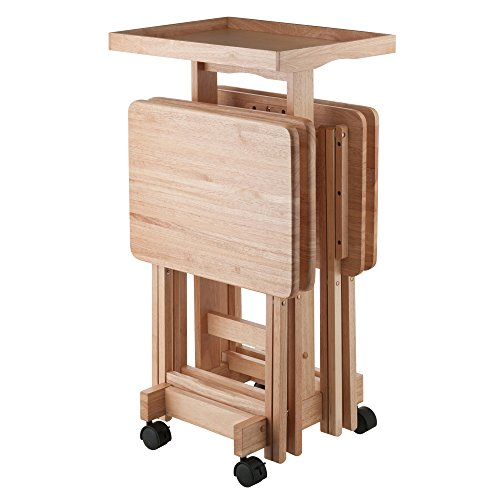 Winsome Isabelle 6 Piece Snack Table Set, Natural