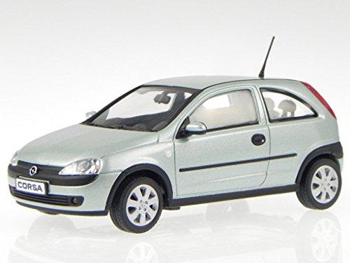 Opel Corsa C 2000 hell grün metallic Modellauto Minichamps 1:43