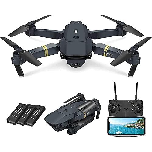 HAOJON E58 pieghevole RC Drone, quadricottero fotografico con modalità senza testa ad altezza fissa, aereo aereo senza equipaggio per adulti, principianti, 4k