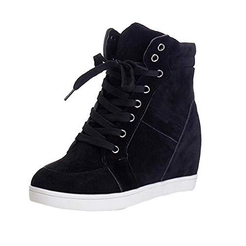 Botas Plano de Mujer con Cordones, QinMM Botines Zapatos clásicos de Martain de Invierno de otoño Sneakers