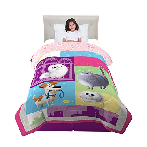 "Franco Kids Bedding Super Soft Comforter, Twin Size 64"" x 86"", Secret Life of Pets 2"