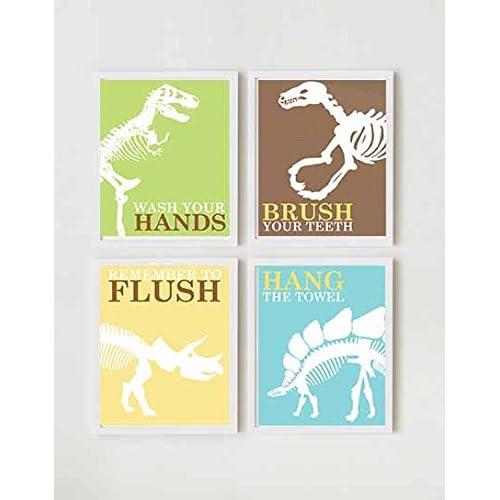 Dinosaur Bathroom Decor Amazon Com