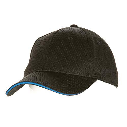 Colour by Chef Works Bcct-blu-0 Cool Vent Casquette de baseball, bordure bleue, taille unique, Noir