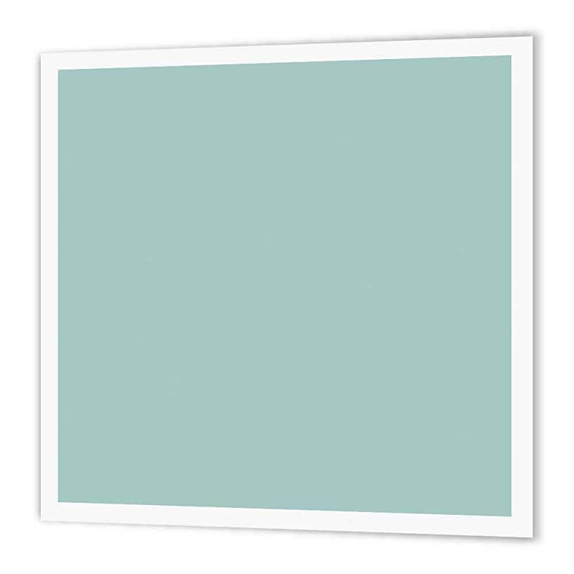 3dRose ht_159844_2 Plain Mint Blue Solid Color Modern Contemporary Simple Pastel Teal Iron on Heat Transfer for White Material, 6 by 6