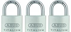 Lightweight High Security Padlock: Made of TITALIUM, a high strength aluminum alloy and a stainless steel finish, these lightweight keyed alike padlocks are ideal for travel and transportation. Includes 4 keys Light But Secure Protection: Featuring a...